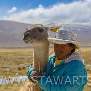 _E3A5639_Peru_Colca Tal_Frau mit Alpaca